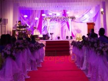Wedding aisles decor indoor