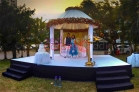 wedding reception stage decor outdoor