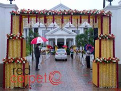 Entrance arch at Camelot convention centre alappuzha