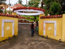 Entrance arch for kerala wedding