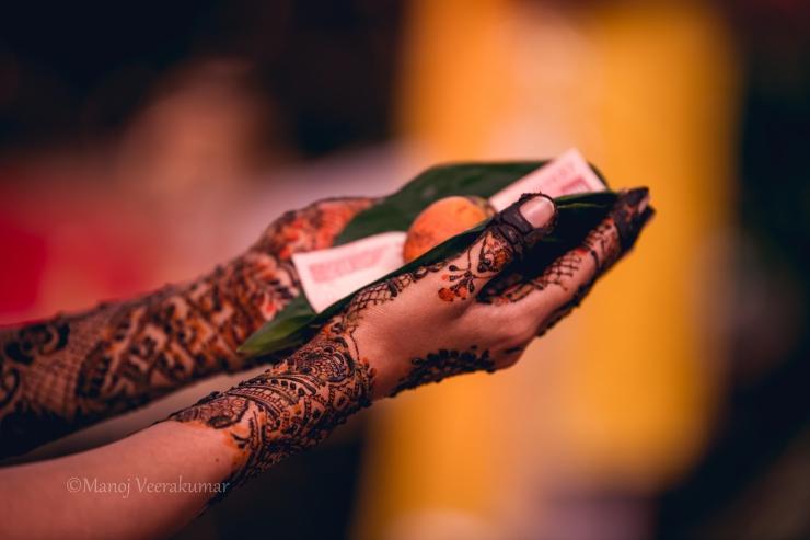 dakshina or offering -iyer wedding rituals