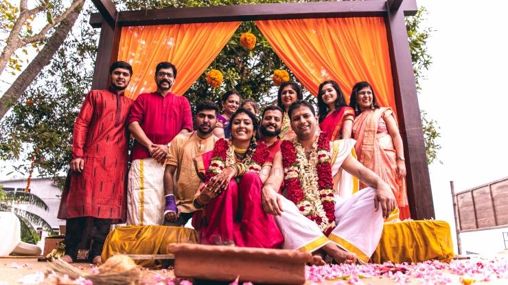 RED CARPET WEDDINGS IYER NAIR WEDDING happy family_destination wedding planner kerala